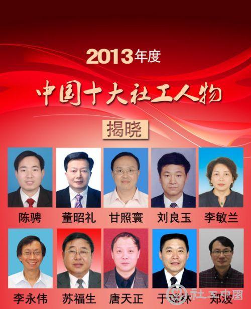 2013年度中国十大社工人物