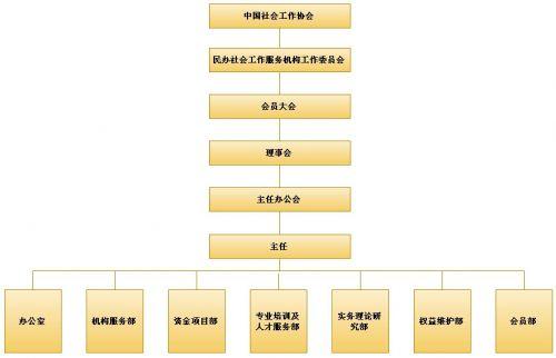 中国民办社会工作服务机构工作委员会组织架构