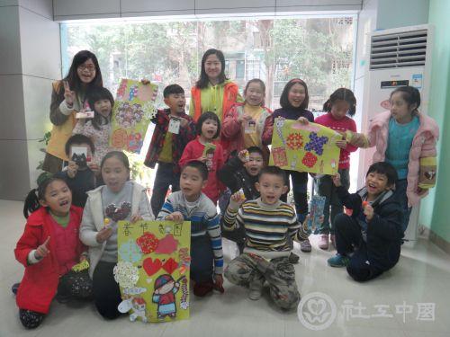 """广州天园家综""""儿童剪贴画""""小组顺利开展"""