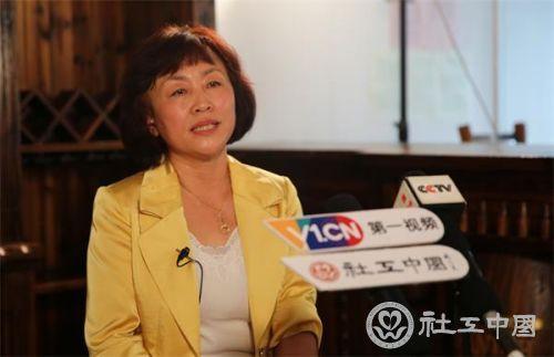 顾秀琴接受央视、第一视频和社工中国网的联合专访