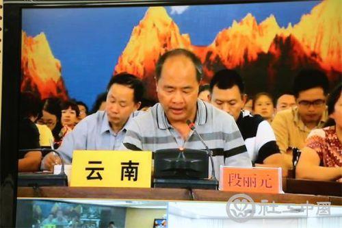 云南省民政厅厅长段丽元发言