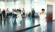 济南军休社工开展太极拳兴趣小组活动