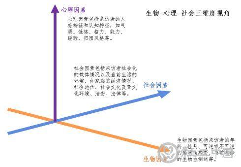 图1:生物-心理-社会三维度视角示意图
