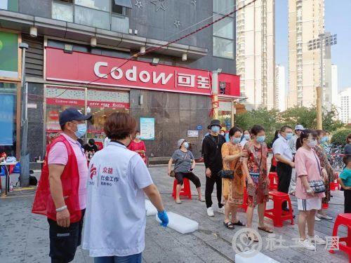 助力全市核酸检测筛查 武汉社工在行动