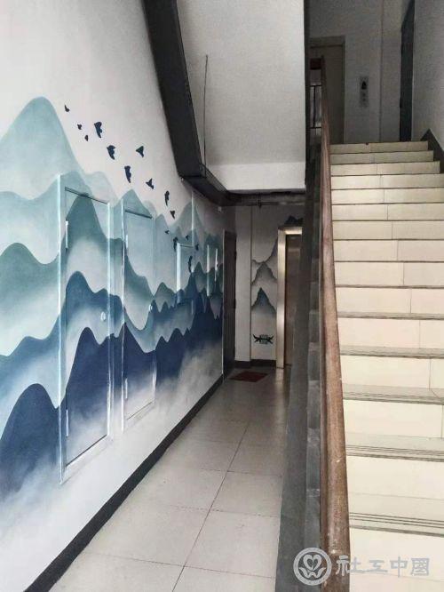 樓道墻面涂鴉